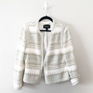 St. John Couture Metallic Sweater Blazer